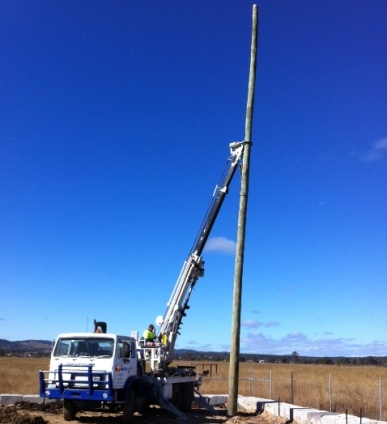 Private Property Power Pole Installations and Repairs
