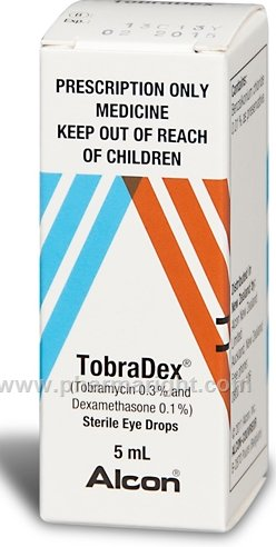 Tobramycin/Dexamethasone Eye Drops
