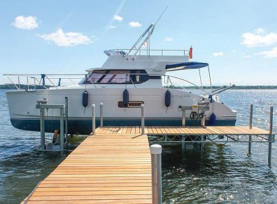 Boat Dock With Boat Lift
