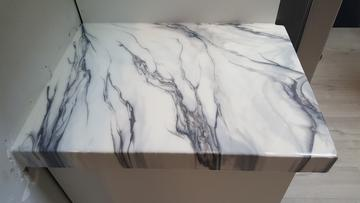 epoxy countertop white marble
