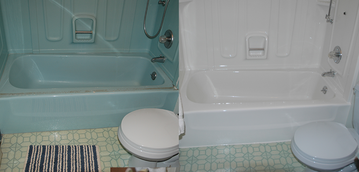 bathtub and shower refinishing before and after