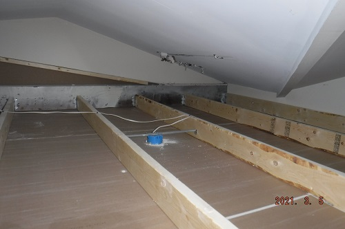 uninsulated attic area discovery
