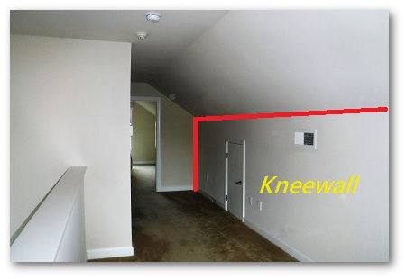 Typical Maryland knee wall attic