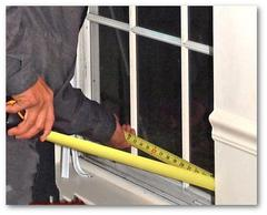 Replacement window precise measurements