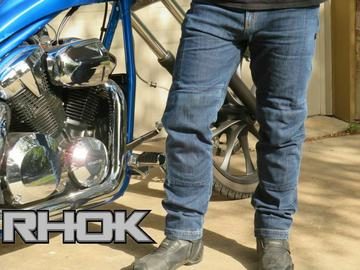 RHOK Gen1 Motorcycle Jeans lined with DuPont � Kevlar � + knee & hip CE Armours