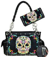 We stock Concealment Handbags Western Purses Sugar Skull Bags T W Flea Market Carmen's Booth 66 View Here