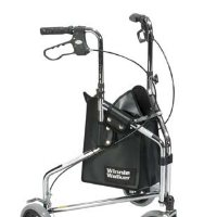 "Drive Winnie Deluxe 3 Wheel Steel Rollator, 7.5"" Casters with Loop Locks walker"