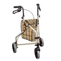 """Drive Winnie Lite Supreme/Go Lite 3 Wheel Aluminum Rollators, 7.5"""" Casters with Loop Locks walker"""