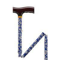 Blue Daisy Aluminum Folding Cane, Height Adjustable by Drive