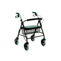Merits Bariatric Heavy-Duty, 4-Wheeled, Alum, Loop Brake
