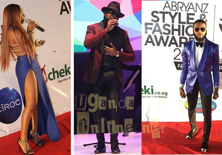 Inset: Banky W performing at the Abryanz awards