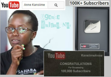 Anne Kansiime gets YouTube reward