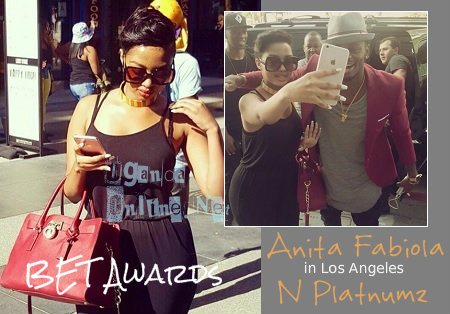 Anita Fabiola and in set when she is with Diamond Platnumz