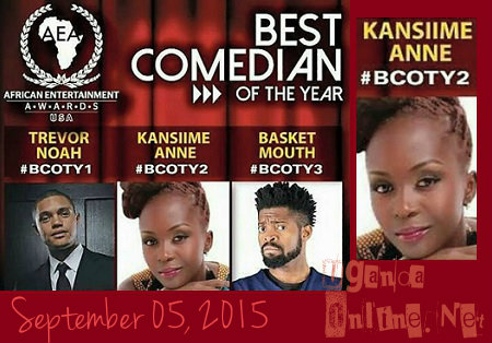 Anne Kansiime nominated in the African Entertainment Awards