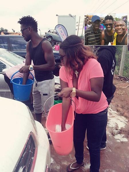 Bobi Wine and Fille at the car wash