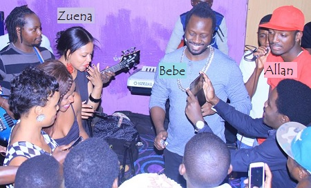 Zuena, Bebe Cool and his son Allan during the birthday bash