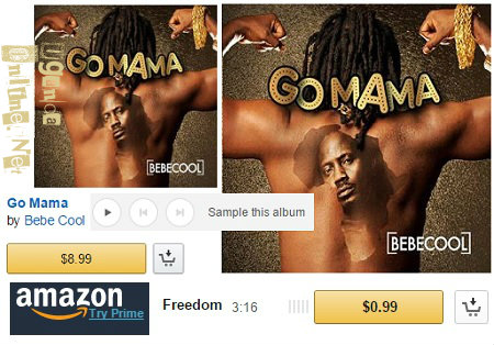 Bebe Cool's latest album can now be bought online