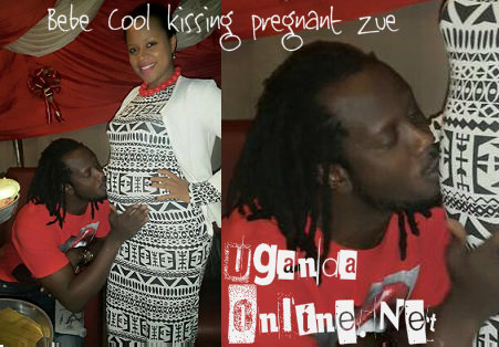 Bebe Cool kissing pregnant Zuena