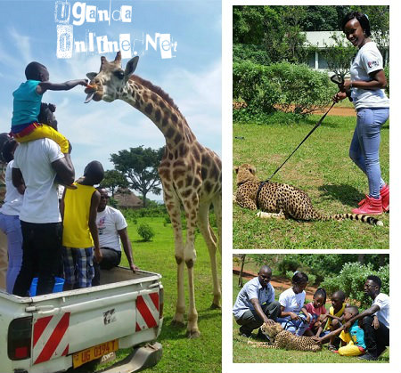 Bobi Wine and family at the Entebbe Zoo