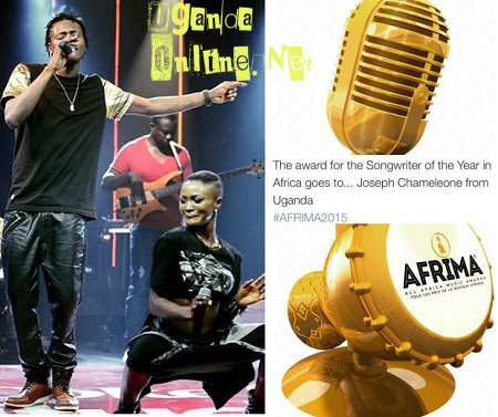 Jose Chameleone is this year's Song Writer of the year