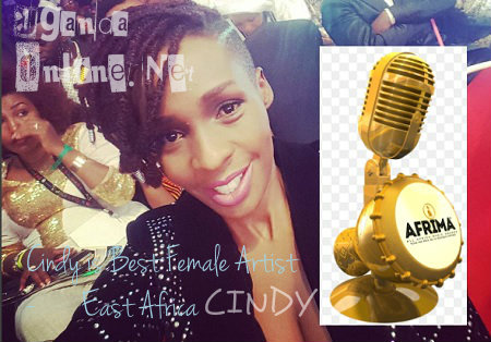 Cindy is the Best Female Artist in East Africa
