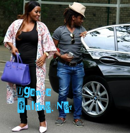 Desire Luzinda with a friend who took her around in China