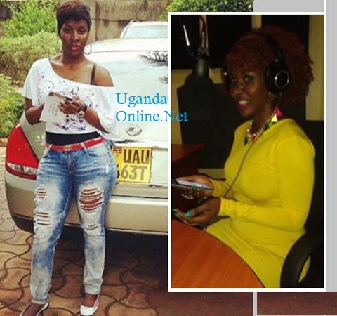 Desire Luzinda stands right next to her Nissan Teana