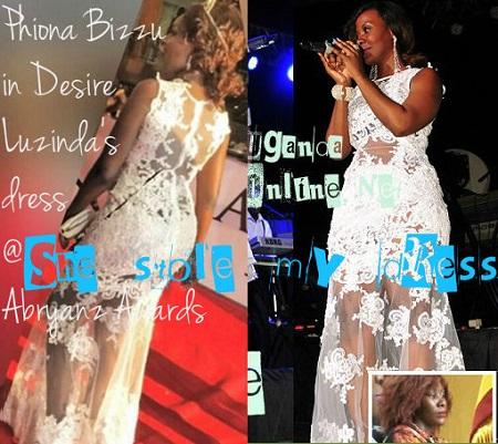 Phiona Bizzu in Desire Luzinda's outfit