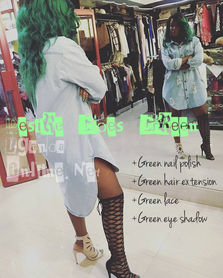 Desire Luzinda takes her love for green to another level