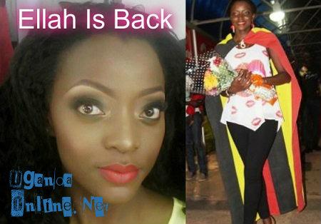 Inset is Ellah at Entebbe International Airport
