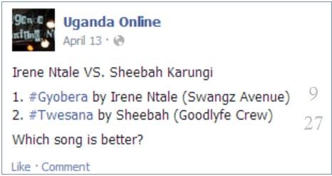 Irene Ntale's Gyobera VS. Sheebah Karungi's Twesana