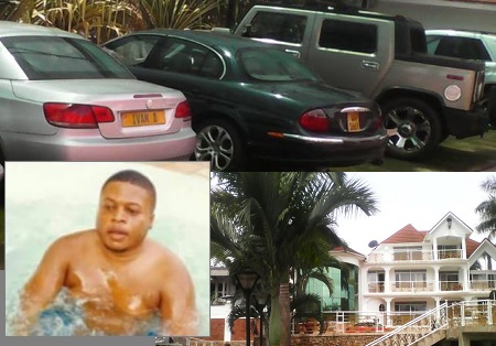 Ivan Semwanga's house that was found to have illegal water connections