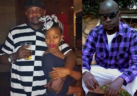 Jeff Kiwa strikes a pose with Sheebah Karungi