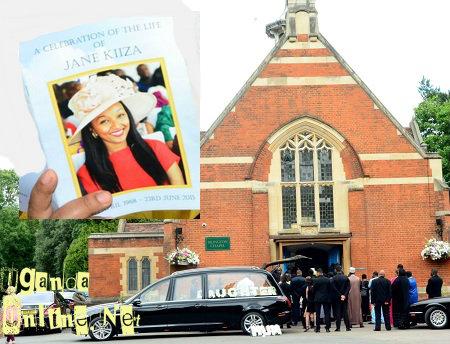 The late Jane Kiiza's friends adnd relatives at Islington Chapel