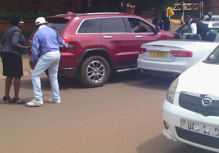 Jack Pemba trying to explain after the accident