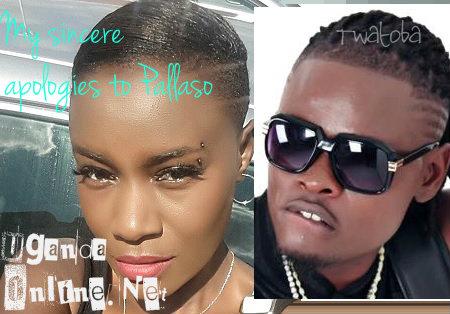 Juliana Kanyomozi apologizes to Pallaso