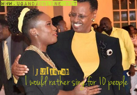 Juliana shares a light moment with the First Lady Mrs. Janet Museveni