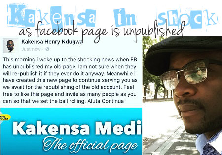 Social Meda enthusiast, Kakensa's page switched off from facebook