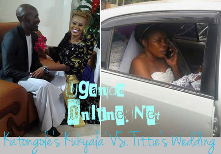 Katongole at the parents of his new catch and Titie on her wedding