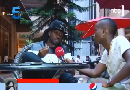 Mc Kats interviewing Bebe Cool on his first show at NBS