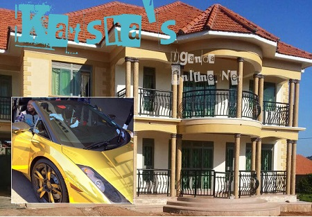 Kastha's house -inset is the gold lamborghini