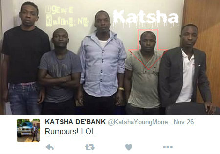 Katsha and four others arraigned in court