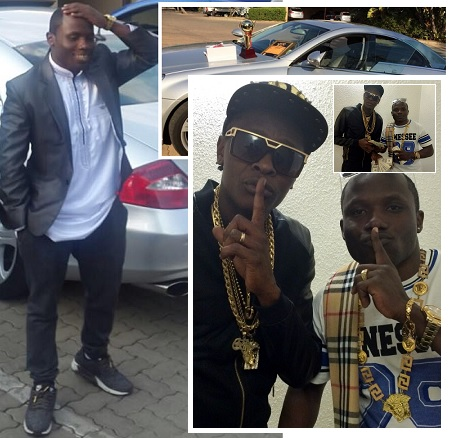 Katsha and Chameleone and on top are his Star QT awards