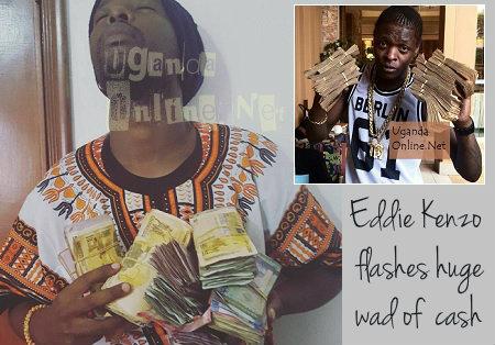 Kenzo nad Chameleone flashing wads of cash