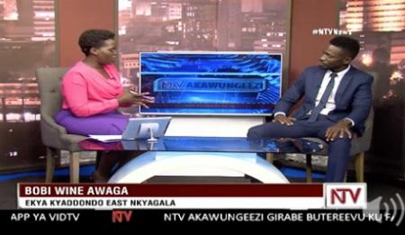 Bobi Wine expressing his interest in the Kyadondo East seat
