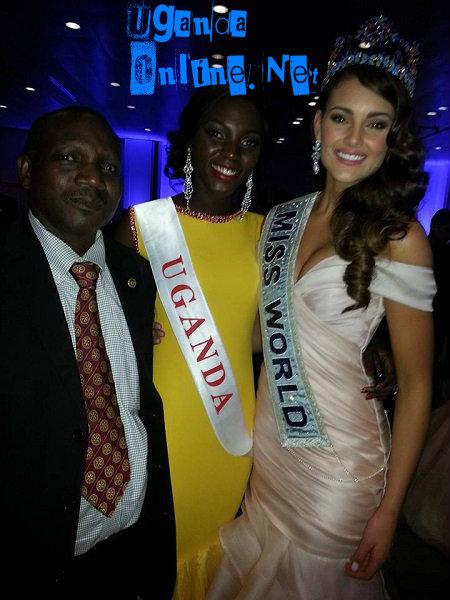 Leah's dad, Mr. Kalanguka Kayondho, Leah and Miss World 2014