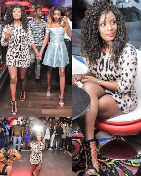 Leila at Guvnor during the premiere of the Manifesto video