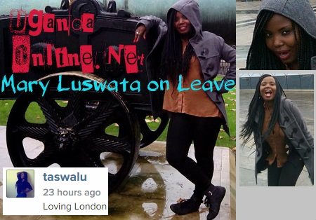 Mary Luswata says she is loving London