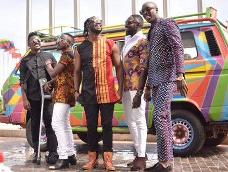 Bebe Cool and Sauti Sol in a collab