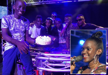 Mc Kats with his birthday cake. Inset is Fille